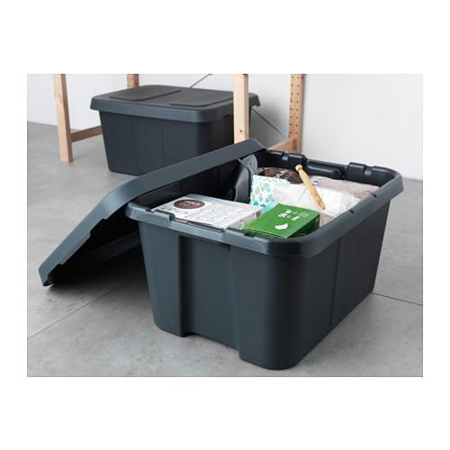 KLÄMTARE контейнер с крышкой,д/дома/сада