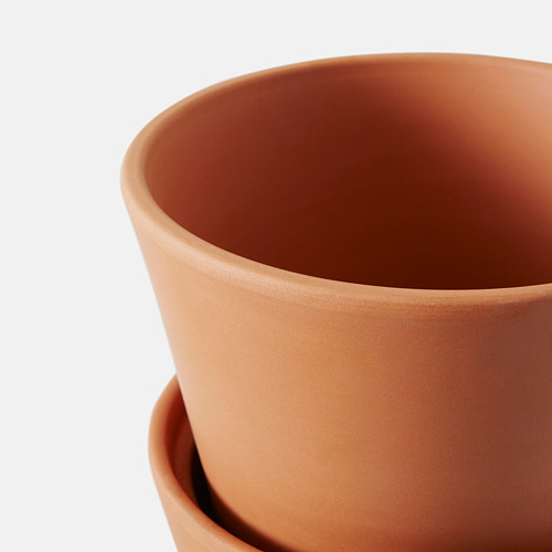 INGEFÄRA plant pot with saucer
