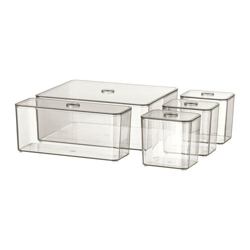 GODMORGON box with lid, set of 5