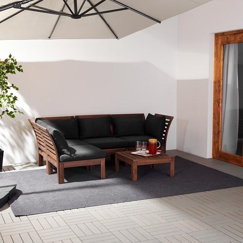ÄPPLARÖ trivietė kampinė mod. lauko sofa