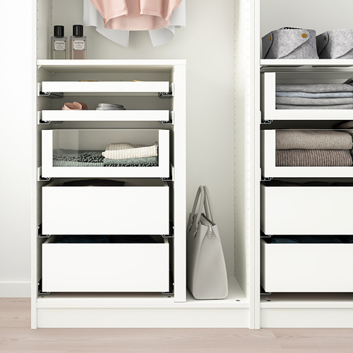 KOMPLEMENT drawer with glass front