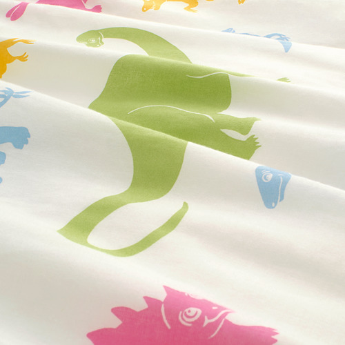 JÄTTELIK quilt cover and pillowcase