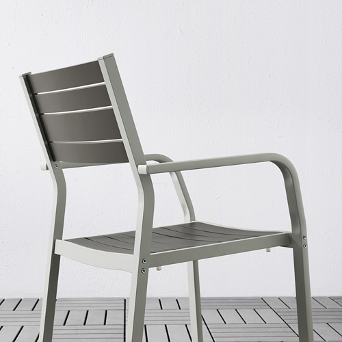 SJÄLLAND table+2 chairs w armrests, outdoor