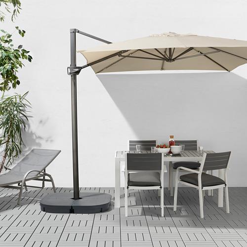 SVARTÖ/SEGLARÖ parasol, hanging with base