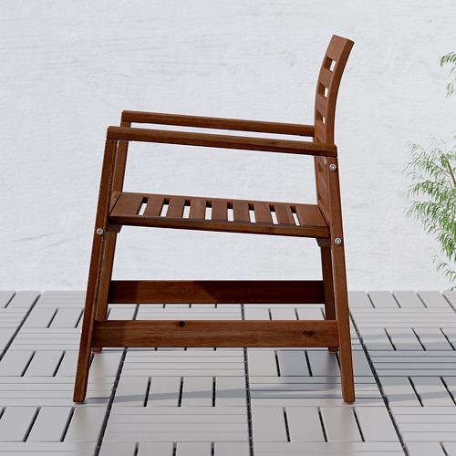 ÄPPLARÖ kėdė su porankiais, lauko