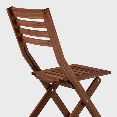 ÄPPLARÖ стол+2 складных стула,д/сада
