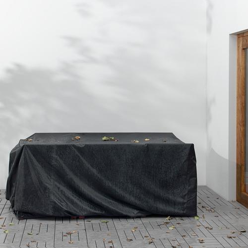 ÄPPLARÖ lauko stalas+6 kėdės su porankiais