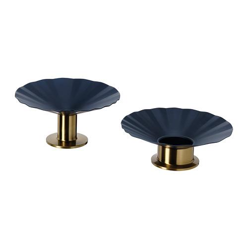 KARISMATISK candlestick/tealight hldr, set of 2
