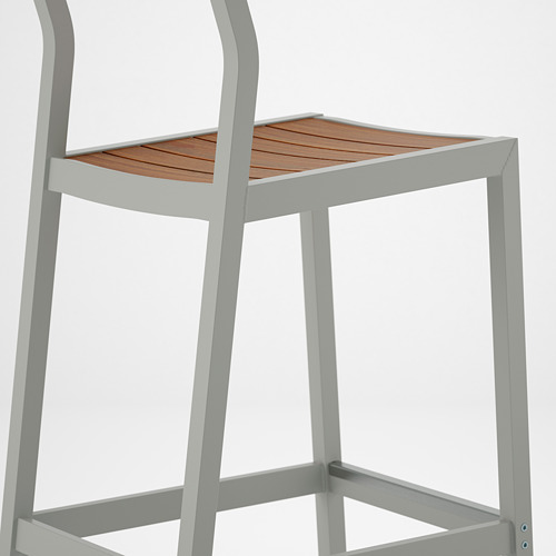 SJÄLLAND bar stool with backrest, outdoor