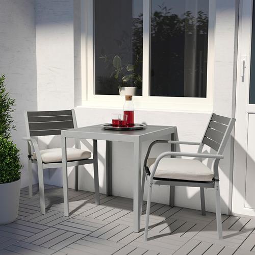 SJÄLLAND садовый стол и 2 легких кресла