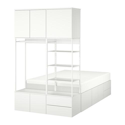 PLATSA lovos rėmas, 8 durys, 4 stalčiai