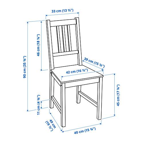 INGATORP/STEFAN stalas ir 2 kėdės