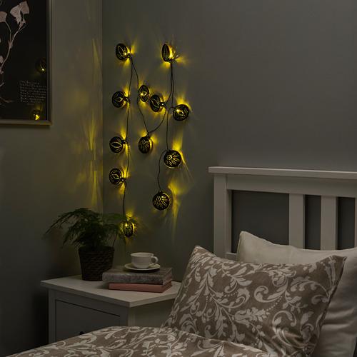 STRÅLA LED lighting chain with 12 lights