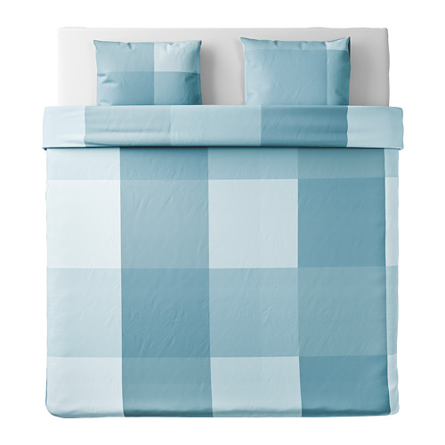 BRUNKRISSLA quilt cover and 2 pillowcases