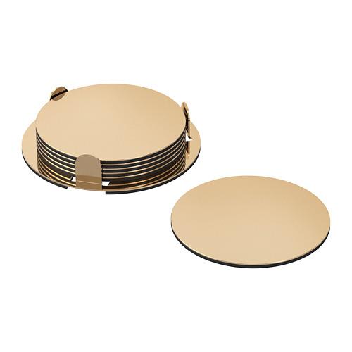 GLATTIS coasters with holder