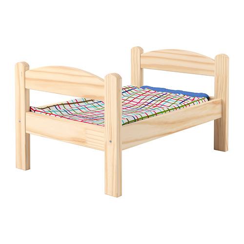 DUKTIG doll's bed with bedlinen set