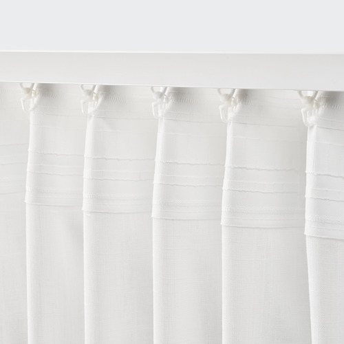 SILVERLÖNN sheer curtains, 1 pair