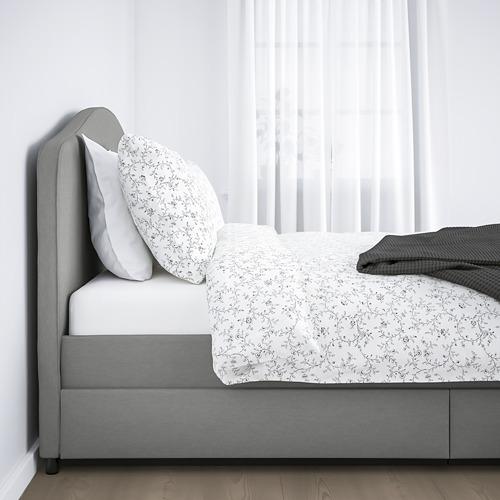 HAUGA minkštoji lova su 2 stalčiais