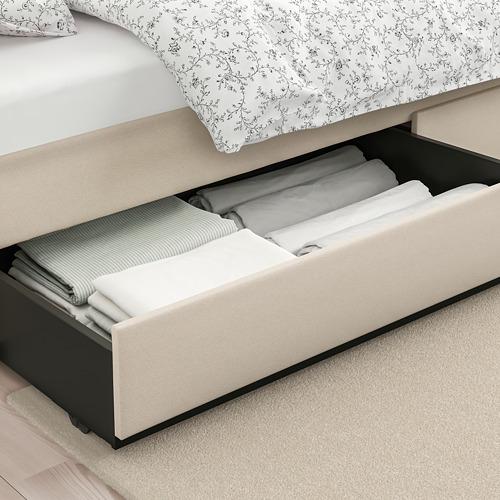 HAUGA minkštoji lova su 4 stalčiais