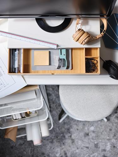 ELLOVEN monitoriaus laikiklis su stalčiumi