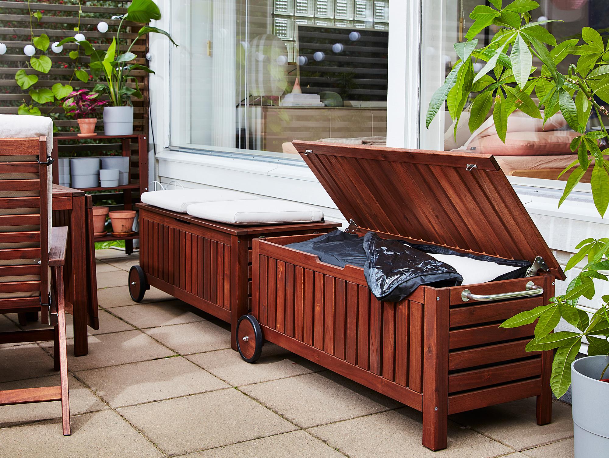 ÄPPLARÖ storage bench, outdoor