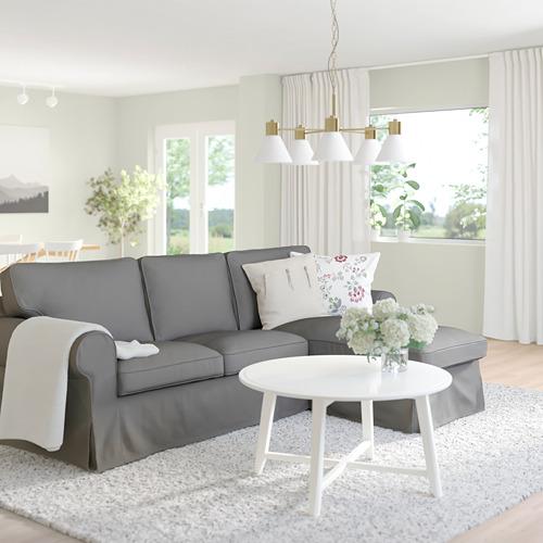 EKTORP 3-seat sofa with chaise longue