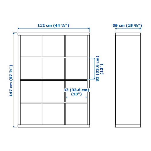 KALLAX стеллаж с 4 вставками