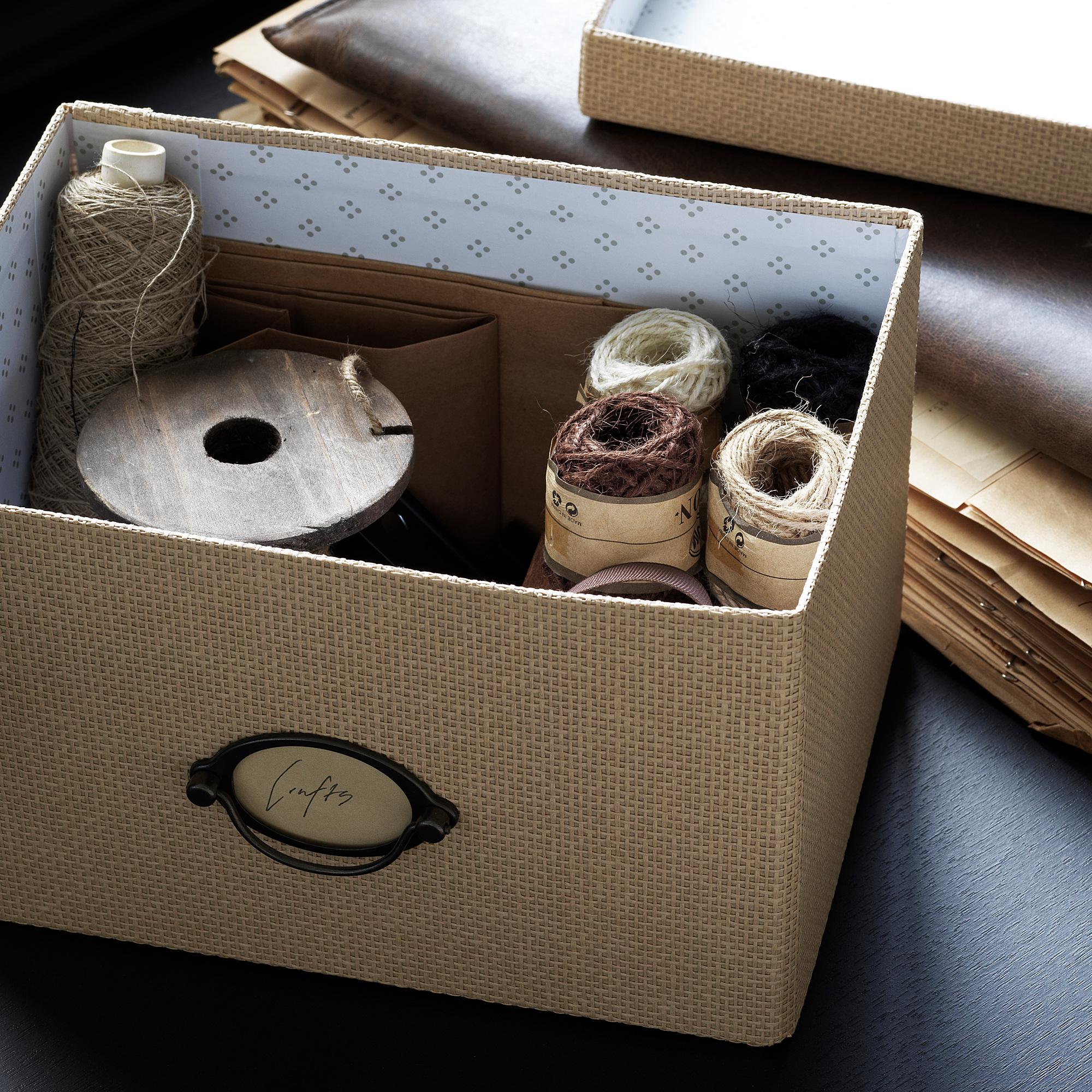 KVARNVIK storage box with lid