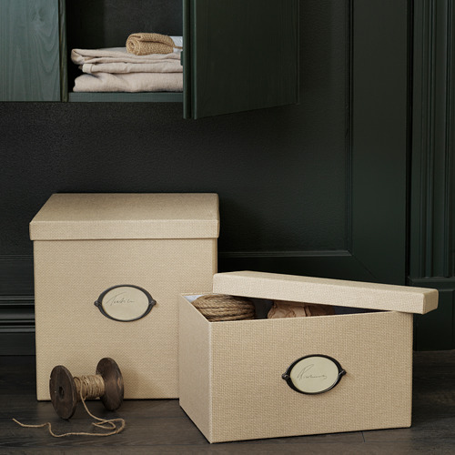 KVARNVIK storage box with lid