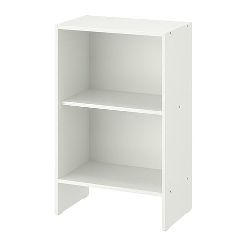 BAGGEBO, grāmatplaukts 50x30x80 cm baltā krāsā