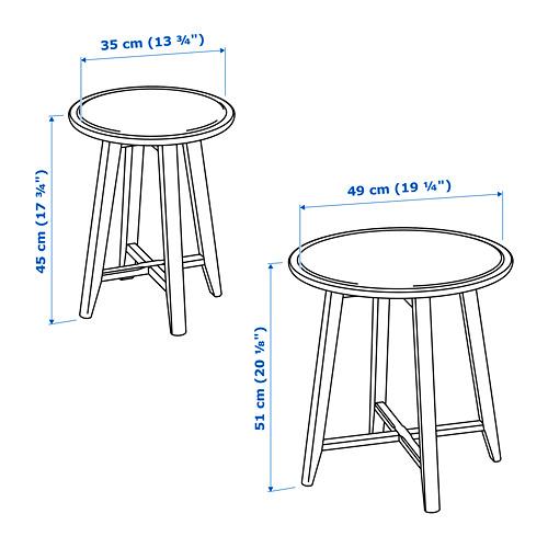 KRAGSTA galdiņu komplekts, 2 gab.