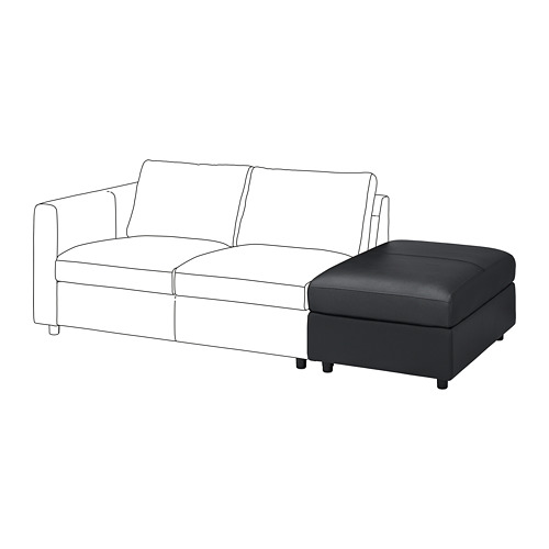 VIMLE footstool with storage