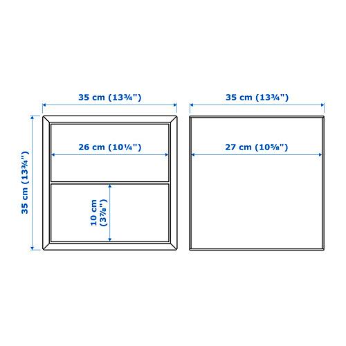 EKET sieninė spintelė su 2 stalčiais