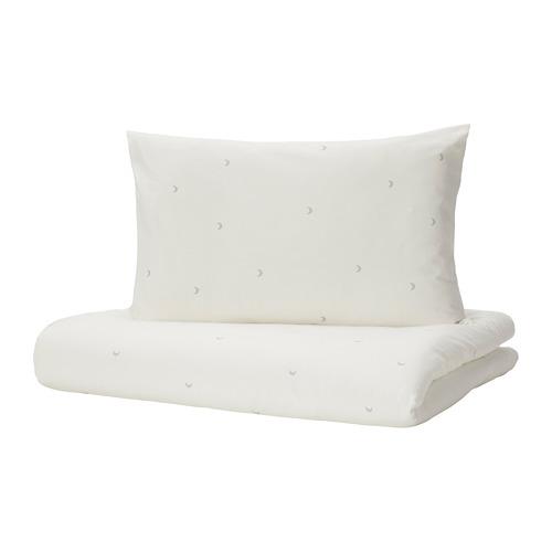 LENAST, segas pārv. un spilvend. b. gult. 110x125/35x55 cm baltā krāsā