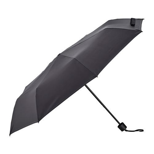 KNALLA, lietussargs Ø95 cm salokāms melnā krāsā