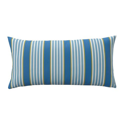 FUNKÖN, spilvens lietošanai telpās vai ārā 58x30 cm zilā krāsā svītrains