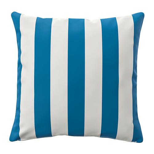 FUNKÖN, spilv. pārv. lietoš. telpās vai ārā 50x50 cm zilā krāsā/baltā krāsā
