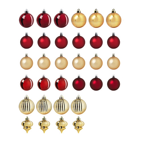 VINTER 2020 decoration bauble, set of 32