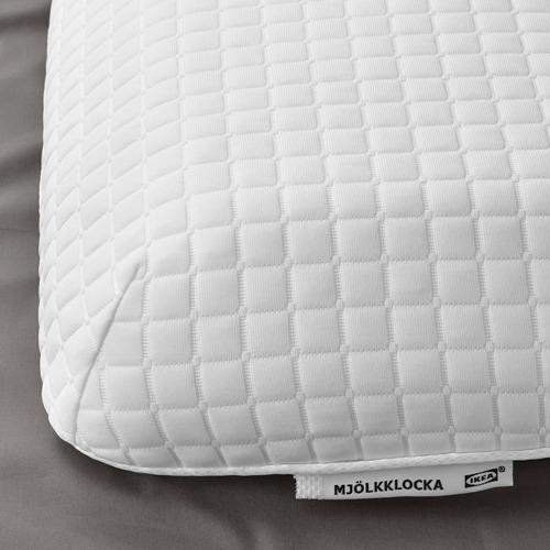 MJÖLKKLOCKA ergonomic pillow, side/back sleeper