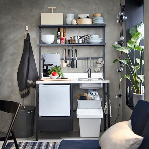 RÅVAROR virtuvėlė su plautuve