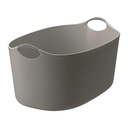 TORKIS, veļas grozs lietoš. telpās vai ārā 58x28 cm pelēkā krāsā