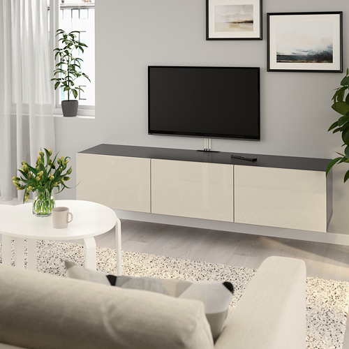 BESTÅ TV galdiņš ar durvīm