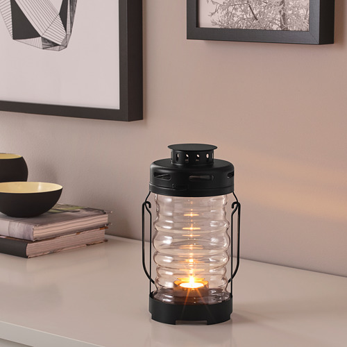 GLIMRANDE lantern for tealight, in/outdoor