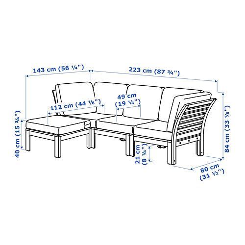 ÄPPLARÖ 3-местный модульный диван, садовый