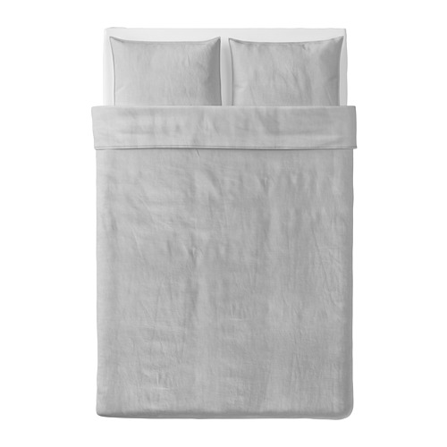 BERGPALM quilt cover and 2 pillowcases