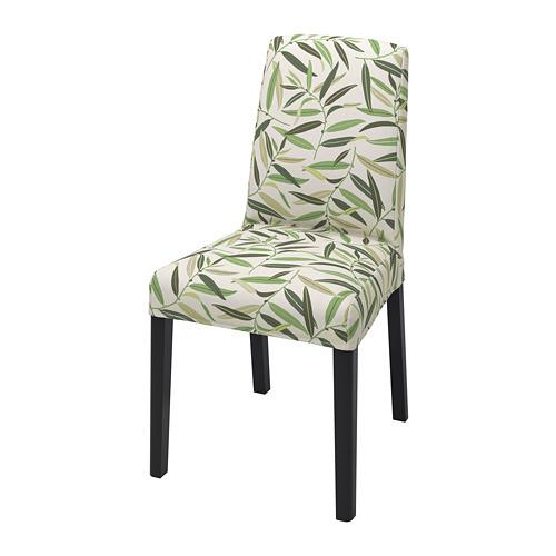 BERGMUND, krēsls 52x59x96 cm melnā krāsā/Fågelfors daudzkrāsains