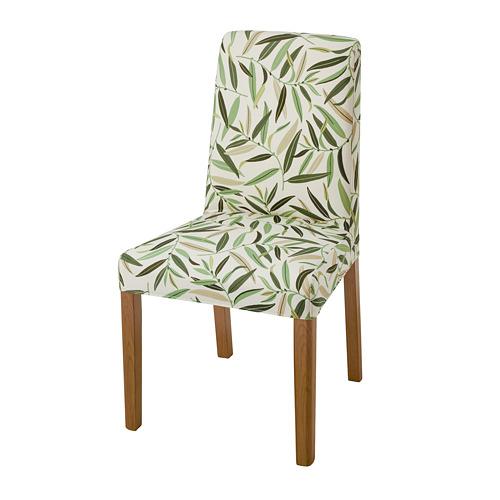 BERGMUND, krēsls 52x59x96 cm ozolkoks/Fågelfors daudzkrāsains