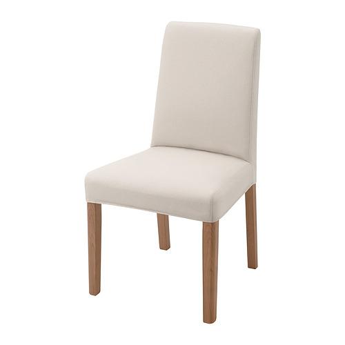 BERGMUND, krēsls 52x59x96 cm ozolkoks/Hallarp smilškrāsā