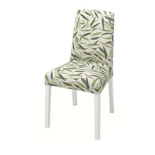 BERGMUND, krēsls 52x59x96 cm baltā krāsā/Fågelfors daudzkrāsains