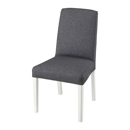 BERGMUND, krēsls 52x59x96 cm baltā krāsā/Gunnared pelēkā krāsā